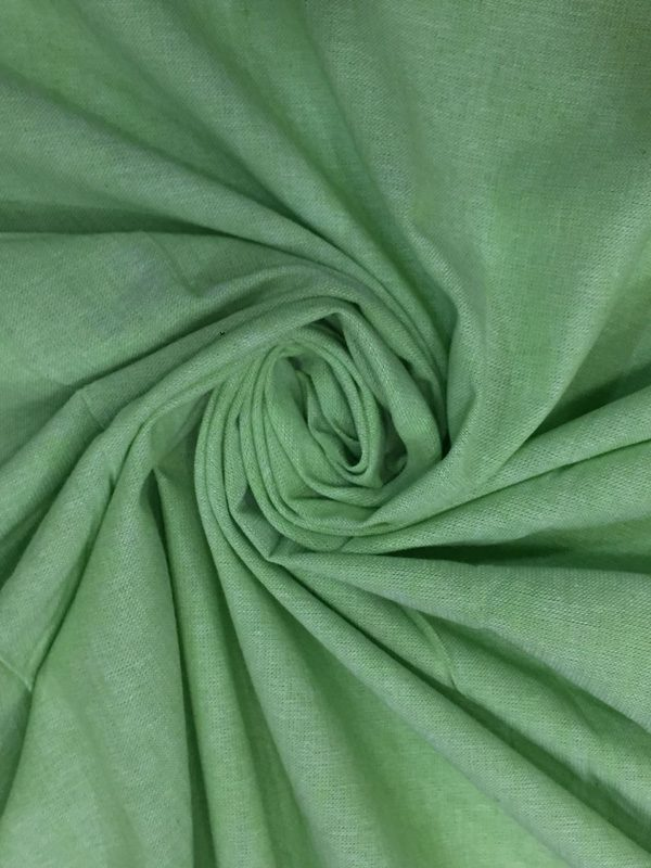 Parrot Green Cotton Chambray Fabric