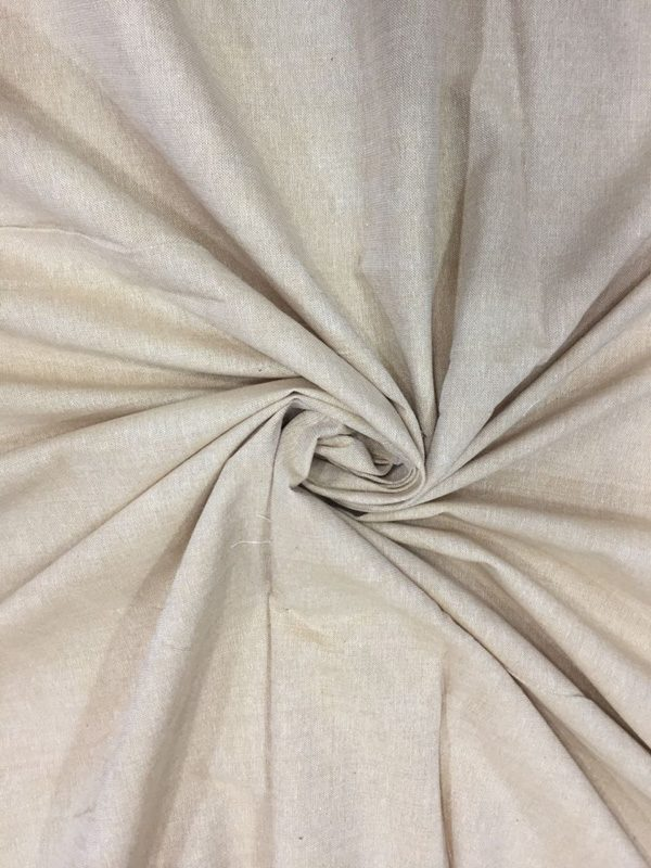 Beige Cotton Chambray Fabric