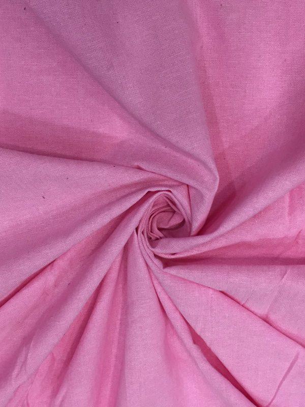 Pink Cotton Chambray Fabric