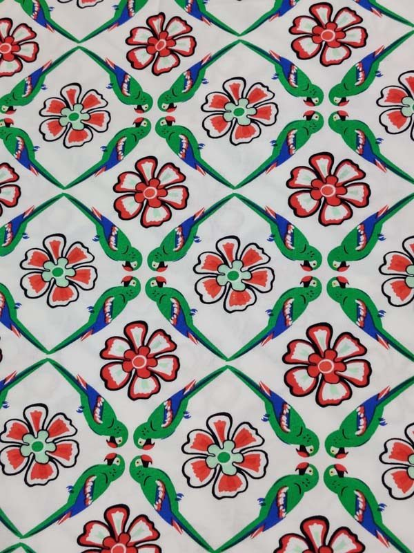 Border Print Rayon Fabric
